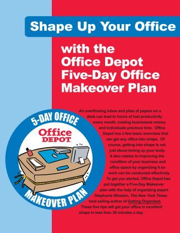Office Depot Five-Day Office Makeover Plan