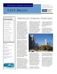 EIFS Briefs - September-October 2012 - Vol 3 - Issue 7 - EIMA