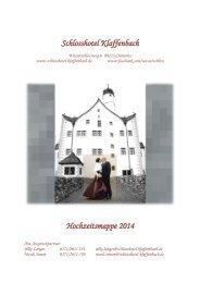 Schlosshotel Klaffenbach Hochzeitsmappe 2013