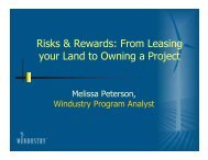 From Leasing your Land to Owning a Project - Southwest Initiative ...