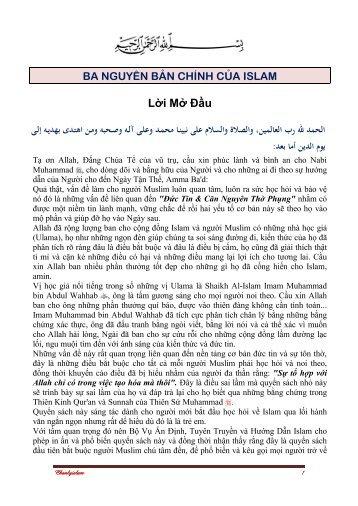 Lời Mở Đầu - Chân Lý Islam