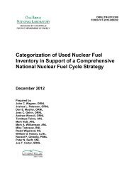 Categorization of Used Nuclear Fuel Inventory in Support of a ...