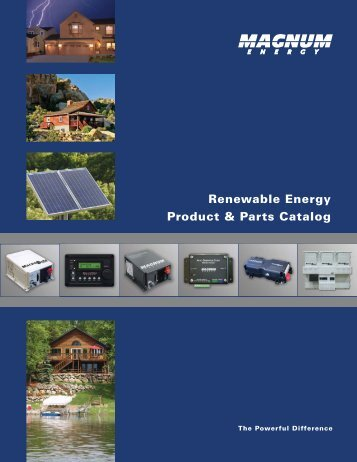 (2012 Renewable Energy Product & Parts Catalog).