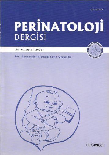 nsulin Benzeri Büyüme Faktörü-1 Düzeyleri ve - Perinatoloji Dergisi