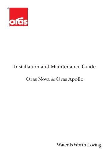 Installation and Maintenance Guide Oras Nova & Oras Apollo