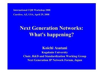 Koichi Asatani, Professor, Kogakuin University, Japan - IEEE CQR