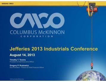 Slides - Columbus McKinnon Corporation