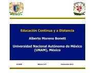 Educación Continua y a Distancia Alberto Moreno Bonett ...