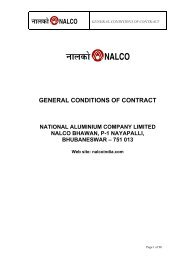 general conditions of contract national aluminium company limited ...