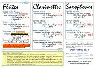 Clarinettes - Feeling Musique