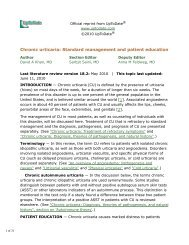 Chronic urticaria: Standard management and patient ... - AInotes