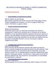 Recursos sobre Medio Ambiente - Portal Ceibal