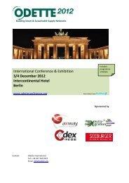 3/4 December 2012 Intercontinental Hotel Berlin - Odette