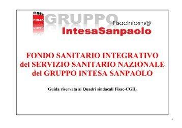 FONDO SANITARIO INTEGRATIVO del SSN del GRUPPO INTESA ...