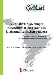 Gute Arbeitsbeziehungen bei Siemens in ausgewählten ...