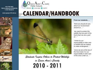 2011-2012 Queen Anne's County Handbook and Calendar