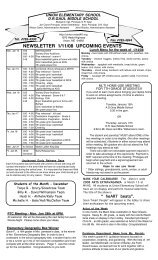 NEWSLETTER 1/11/08 UPCOMING EVENTS - MSAD #40