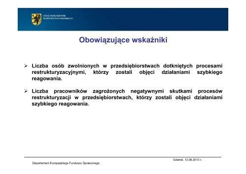 typy projektów - Strona Departamentu Europejskiego Funduszu ...