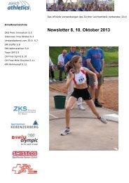 Newsletter 8, 10. Oktober 2013 - zürich-athletics