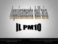 inquinamento dell'aria: il pm10 - Scuola21 - Fermi
