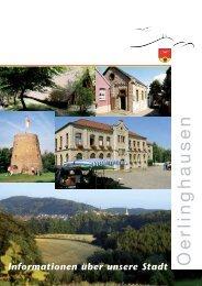 Informations-Broschüre der Stadt Oerlinghausen
