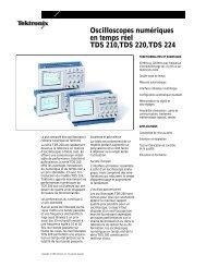 Oscilloscopes numériques en temps réel TDS 210,TDS ... - Tektronix