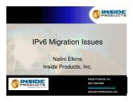 Nalini Elkins – Inside Products – IPv6 Migration Issues