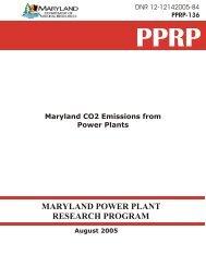 Maryland CO2 Emissions from Power Plants - Versar, Inc., ESM ...