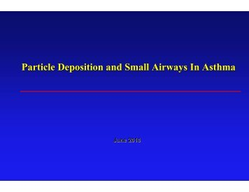Particle Deposition and Small Airways In Asthma - World Allergy ...