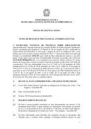 edital - Observatório Brasileiro de Informações sobre Drogas