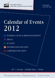 Calendar of Events - MIS Training