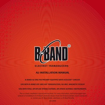 A2 INSTALLATION MANUAL - B-Band, Inc.