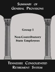 Summary of General Provisions for Non-Contributory State Employees