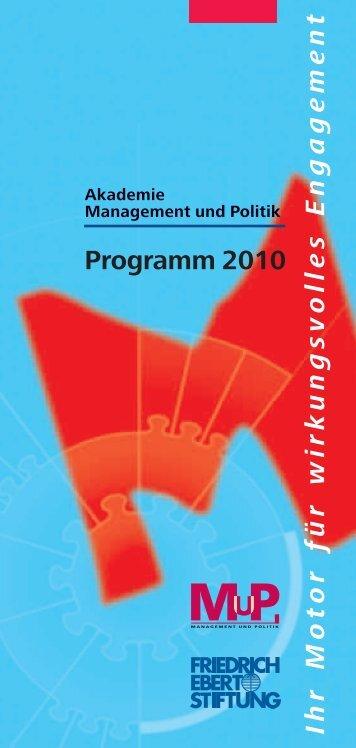 Programm 2010 Ihr Motor für wirkungsvolles Engagement