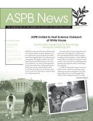 May/June 2011 - ASPB News - American Society of Plant Biologists