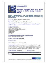Multilevel modelling and time series analysis in ... - ERSO - Swov