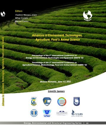 ADVANCES in ENVIRONMENT TECHNOLOGIES ... - WSEAS
