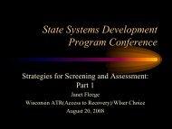 Janet Fleege, M.A., M.S., CAPSW - State Systems Development ...