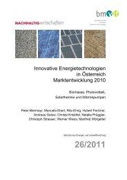 Innovative Energietechnologien in Österreich ... - Austria Solar