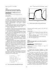 Chemie potravin a biotechnologie - Chemické listy