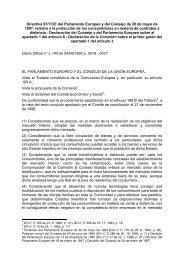 Directiva 97/7/CE del Parlamento Europeo y del Consejo ... - secola