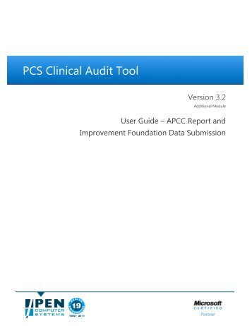 PCS Clinical Audit Tool - Pen Computer Systems
