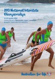 Official Event Program - Surf Life Saving Australia