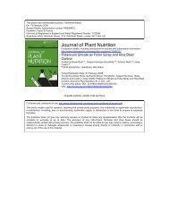 Journal of Plant Nutrition - Professor Gaspar Henrique Korndorfer