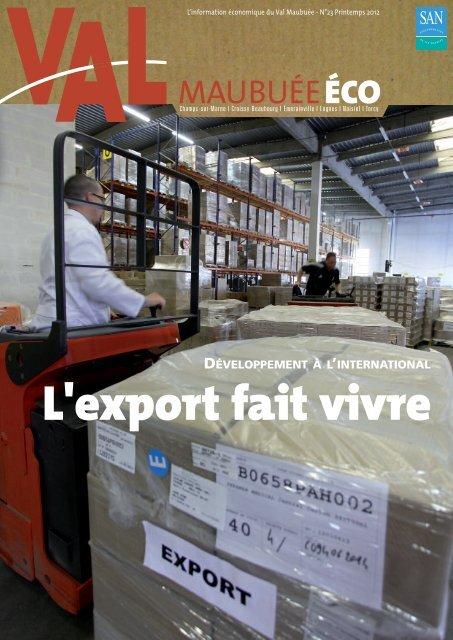 """la lettre d'information économique """"Val Maubuée éco""""."""