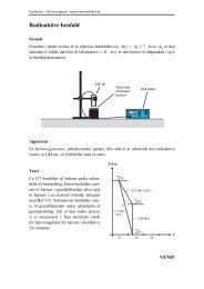 Radioaktive henfald - matematikfysik