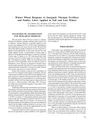 Winter Wheat Response to Inorganic Nitrogen Fertilizer - Agricultural ...