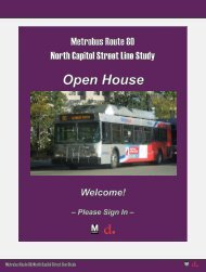 Display boards, public meeting series #1 - Metrobus Studies