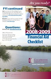 Financial Aid Checklist - Clearwater Christian College