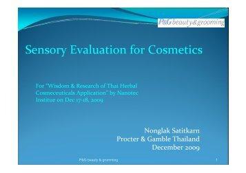 Sensory Evaluation for Cosmetics